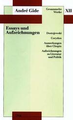 Gesammelte Werke, 12 Bde.: Essays und Aufzeichnungen; Bd.12