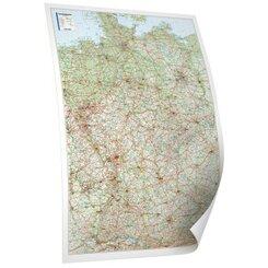 Bacher Straßenkarte Deutschland, Posterlandkarte beschichtet