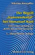 """Der Begriff """"transzendental"""" bei Immanuel Kant"""