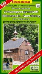 Doktor Barthel Karte Westerzgebirge, Johanngeorgenstadt, Eibenstock, Auersberg und Umgebung