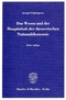 Das Wesen und der Hauptinhalt der theoretischen Nationalökonomie