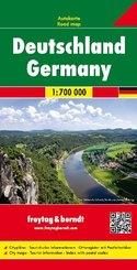 Freytag & Berndt Autokarte Deutschland; Germany. Allemagne. Germania. Alemana