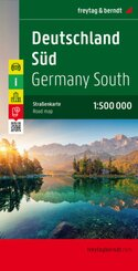 Freytag & Berndt Autokarte Deutschland Süd; Southern Germany; Allemagne du Sud; Germania meridionale