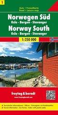 Freytag & Berndt Autokarte Norwegen Süd; Norway South / Soer Norge / Norvège du Sud / Norvegia della Sud