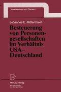 Besteuerung von Personengesellschaften im Verhältnis USA - Deutschland