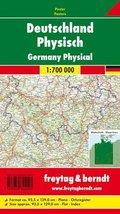Freytag & Berndt Poster Deutschland, physisch, ohne Metallstäbe; Germany, physical
