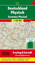 Freytag & Berndt Poster Deutschland, mit Metallstäben; Germany