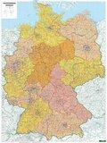 Freytag & Berndt Poster Deutschland, Postleitzahlen, ohne Metallstäbe; Germany, Post Codes