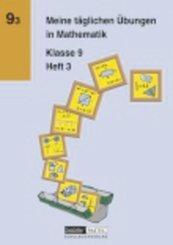 Meine täglichen Übungen in Mathematik - 9. Schuljahr - H.3