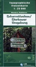 Topographische Freizeitkarte Brandenburg Scharmützelsee, Storkower Umgebung