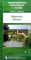 Topographische Karte Brandenburg Märkische Schweiz