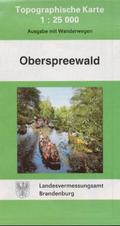 Topographische Karte Brandenburg Oberspreewald
