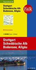 Falk Plan Stuttgart, Schwäbische Alb, Bodensee, Allgäu
