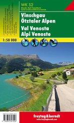 Freytag & Berndt Wander-, Rad- und Freizeitkarte Vinschgau, Ötztaler Alpen; Val Venosta, Alpi Venoste