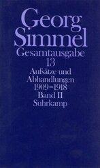 Gesamtausgabe: Aufsätze und Abhandlungen 1909-1918; Bd.13 - Tl.2