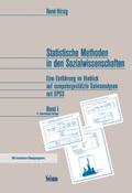 Statistische Methoden in den Sozialwissenschaften - Bd.1