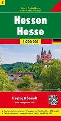 Freytag & Berndt Auto- und Freizeitkarte Hessen; Hesse / Assia
