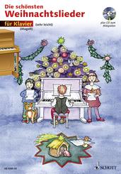 Die schönsten Weihnachtslieder, Notenausg. m. Audio-CDs: Für Klavier, m. Audio-CD
