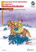 Die schönsten Weihnachtslieder, Notenausg. m. Audio-CDs: Für Altblockflöte, m. Audio-CD