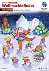 Die schönsten Weihnachtslieder, Notenausg. m. Audio-CDs: Für Violine, m. Audio-CD