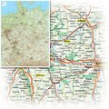 Bacher Straßenkarte Deutschland, Mini-Posterkarte, plano