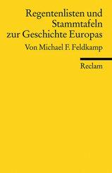 Regentenlisten und Stammtafeln zur Geschichte Europas
