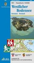 Topographische Freizeitkarte Baden-Württemberg Westlicher Bodensee