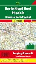 Freytag & Berndt Poster Deutschland Nord, ohne Metallstäbe; Germany North