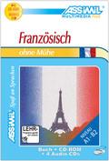 Assimil Französisch ohne Mühe, Lehrbuch, 4 Audio-CDs u. 1 CD-ROM
