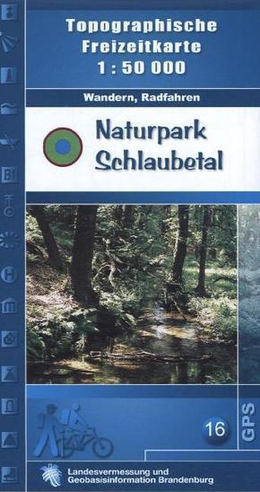 Topographische Freizeitkarte Brandenburg Naturpark Schlaubetal