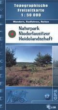 Topographische Freizeitkarte Brandenburg Naturpark Niederlausitzer Heidelandschaft