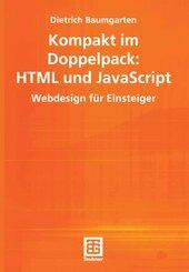 Kompakt im Doppelpack, HTML und JavaScript Webdesign für Einsteiger