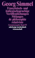 Französisch- und italienischsprachige Veröffentlichungen - Melanges de philosophie relativiste