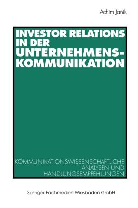Investor Relations in der Unternehmenskommunikation