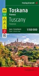 Freytag & Berndt Autokarte + Freizeitkarte Toskana, Florenz 1:150.000