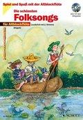 Die schönsten Folksongs für 1-2 Altblockflöten, m. Audio-CD