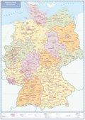 Politische Karte Deutschland, plano