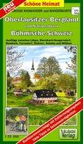 Doktor Barthel Karte Große Radwander- und Wanderkarte Oberlausitzer Bergland und Nationalpark Böhmische Schweiz