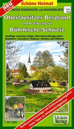Doktor Barthel Karte Große Radwander- und Wanderkarte Oberlausitzer Bergland und Nationalpark Böhmische Schweiz; Buch XVI