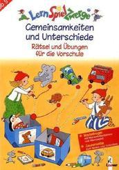 LernSpielZwerge, Übungshefte: Gemeinsamkeiten und Unterschiede - Rätsel und Übungen für die Vorschule; Vorschule