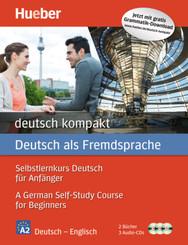 deutsch kompakt, Neuausgabe: Englische Ausgabe: 2 Bücher + 3 Audio-CDs