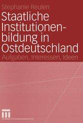 Staatliche Institutionenbildung in Ostdeutschland