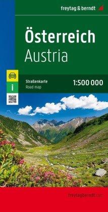 Freytag & Berndt Autokarte Österreich; Austria; Autriche