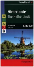 Freytag & Berndt Autokarte Niederlande; Nederland; Paises Bajos; The Netherlands; Pays Bas; Paesi Bassi