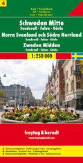 Freytag & Berndt Auto + Freizeitkarte Schweden Mitte - Sundsvall - Falun - Gävle, Autokarte 1:250.000; Norra Svealand oc