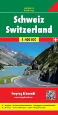 Freytag & Berndt Autokarte Schweiz; Suiza. Zwitserland; Switzerland. Suisse. Svizzera