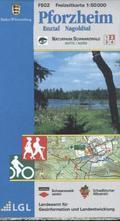 Topographische Freizeitkarte Baden-Württemberg Pforzheim