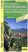 GeoMap Karte Freizeitregion Dreiländereck, Südliche Vogesen, Oberrhein Rad- und Freizeitkarte