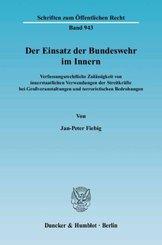 Der Einsatz der Bundeswehr im Innern.