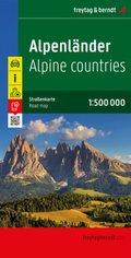 Freytag & Berndt Autokarte Alpenländer; The Alps / Les Alpes / Alpi / Los Alpes